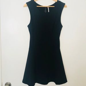 Free People Fit and Flare Black Dress